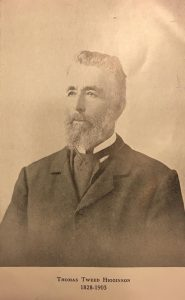 Thomas Tweed Higginson, of Welby, son of William Higginson and Jane Tweed of Emerald Hill, Hawkesbury, Ontario