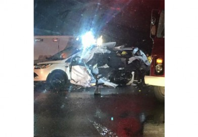 Two injured in Highway 34 crash in front of Herb's Travel Plaza