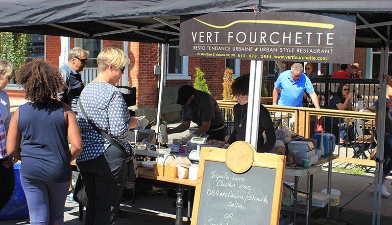 Vert Fourchette's kiosk.