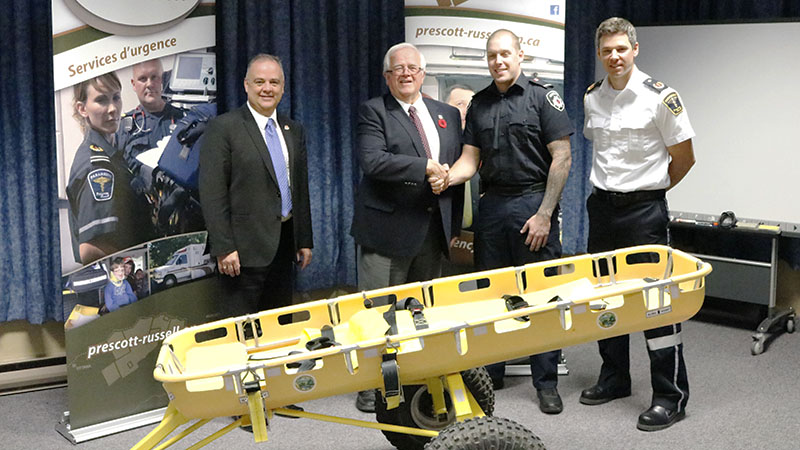 All terrain stretcher donated to UCPR emergency services