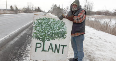Andy Perreault still working to save trees