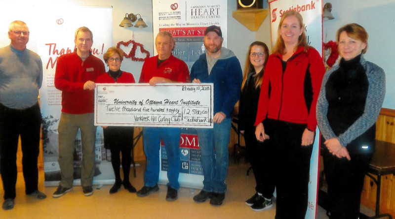 $13,000 raised at Vankleek Hill Curling Club for University of Ottawa Heart Institute