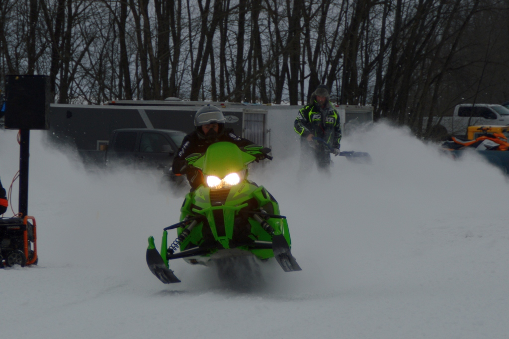 8th annual snowmobile drags on snow and ice