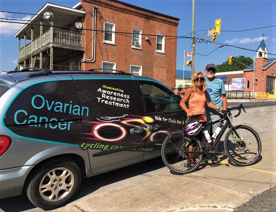 8dd1672873b Cyclist J. Kathleen Thompson and her partner Ken